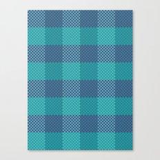 Pixel Plaid - Ice Sheet Canvas Print