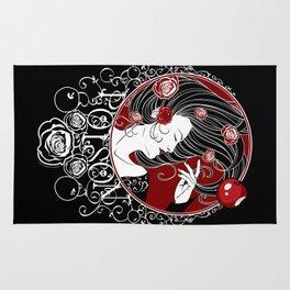Poison - Black Rose Rug