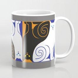 Black Cat / White Cat Coffee Mug