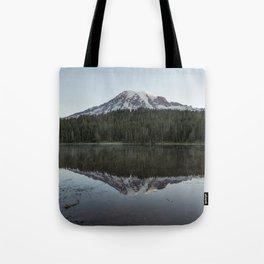 Sunrise at Reflection Lake - Mount Rainier Tote Bag