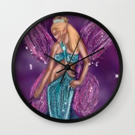 Galactic Fairy Godmother Wall Clock