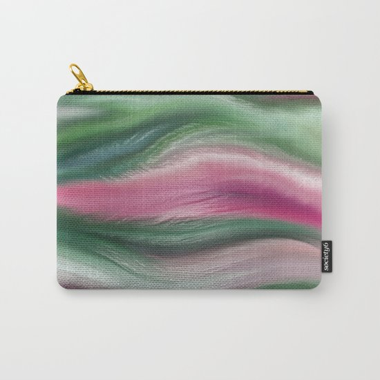 Modern abstract background or texture with flowing wavy lines Carry-All Pouch