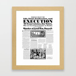 Trial and execution of Courvoisier Framed Art Print