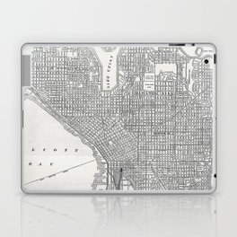 Vintage Seattle Map Laptop & iPad Skin