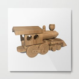 Wooden Train Metal Print