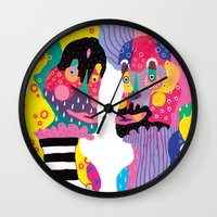weird Wall Clocks featuring Weird & Weirder by Saif Chowdhury
