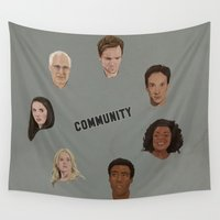 community Wall Tapestries featuring Community Simple by mycolour
