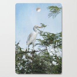 Cattle Egret In a Tree Cutting Board