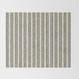 Mud Cloth - Black and White Arrowheads Throw Blanket