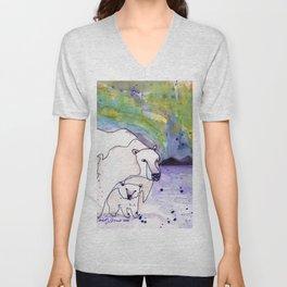 Polar Bear Mommy Unisex V-Neck