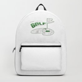 Eat Sleep Golf Repeat Golfing Golf Clubs Hitting Outdoor Course Golfers Gift Backpack