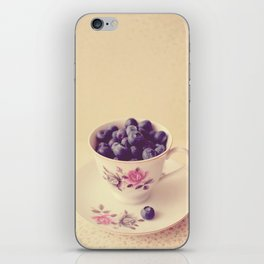 Blueberries in a Teacup iPhone Skin