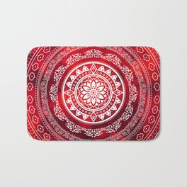 Mandala Scarlet Destiny Spiritual Zen Bohemian Hippie Yoga Mantra Meditation Bath Mat