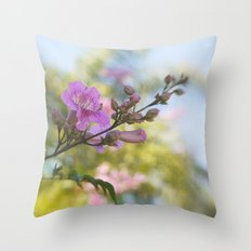 In Pastel Colors Throw Pillow