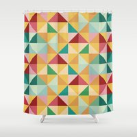 candy Shower Curtains featuring Candy by According to Panda