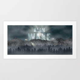 Alan Wake Art Print