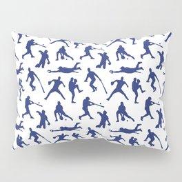 Blue Baseball Players Pillow Sham