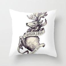Ginger Deer Throw Pillow