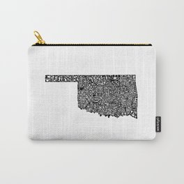 Typographic Oklahoma Carry-All Pouch