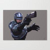 robocop Canvas Prints featuring Robocop by Jeff Delgado