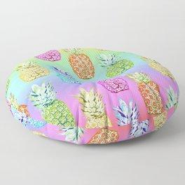 Pineapple Rainbow Floor Pillow