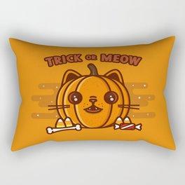 Trick or meow Rectangular Pillow