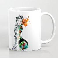 pinup Mugs featuring Pinup Girl by helenacionart