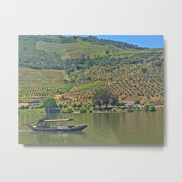 Views of the Douro wine country, off the Douro River, while lunching Metal Print