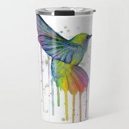 Hummingbird Watercolor Travel Mug