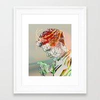 niall Framed Art Prints featuring Geometric Niall by Peek At My Dreams