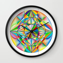 Twinkle Star - The Sacred Geometry Collection Wall Clock