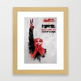 Fight Like An Egyptian Framed Art Print