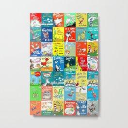 Dr. Seuss Book Covers Metal Print