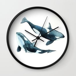 Killer Whales - Orcas Wall Clock