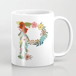 Monogram Letter P Coffee Mug