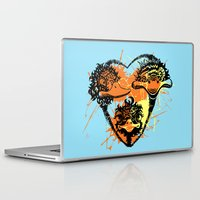 ostrich Laptop & iPad Skins featuring Ostrich couple by SilviaGancheva