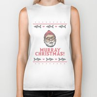 murray Biker Tanks featuring Murray Christmas! by nino benito