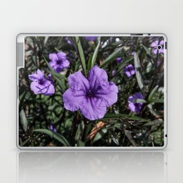 Purple Flower Bloom Laptop & iPad Skin