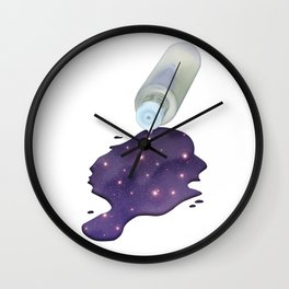 Universe in the Bottle Wall Clock