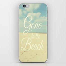 Gone To The Beach iPhone Skin