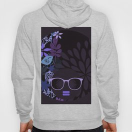 Afro Diva : Sophisticated Lady Purple Lavender Hoody