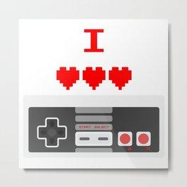 NES - I LOVE NINTENDO Metal Print