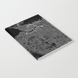 Vancouver Black Map Notebook