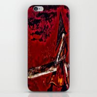 silent hill iPhone & iPod Skins featuring Silent Hill Pyramid Head by Joe Misrasi