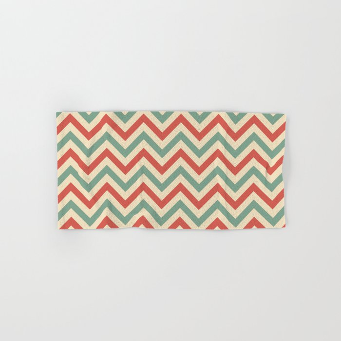 Retro zigzag pattern Hand & Bath Towel