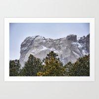 rushmore Art Prints featuring Mt Rushmore by Sunka Foto