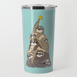 Christmas Tree  Sloths Travel Mug