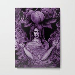 Lana's Peaches Dark Purple Metal Print