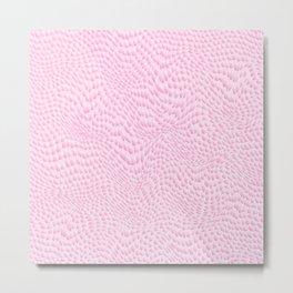 Vector pastel pink modern girly hipster animal print Metal Print