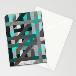 Line Tiles Textured Stationery Cards